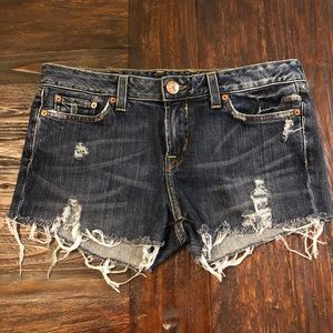 One of a Kind! Lucky Distressed Denim Shorts, 12